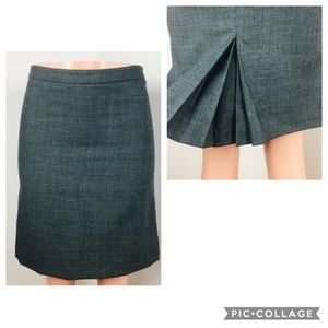 French Connection 100% Wool Skirt Pleated Back